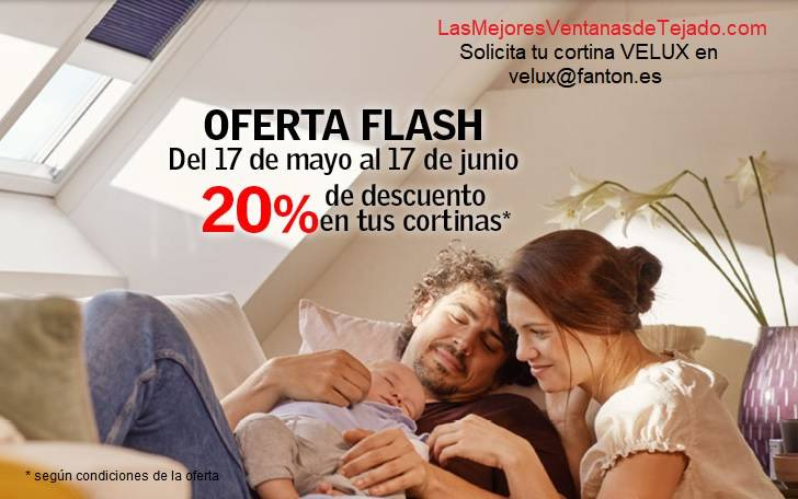 OFERTA FLASH - Cortinas VELUX en dFanton